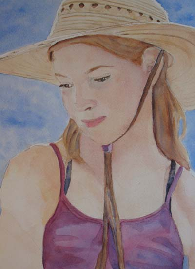 Hat and Shoulders (9 x 12) $100