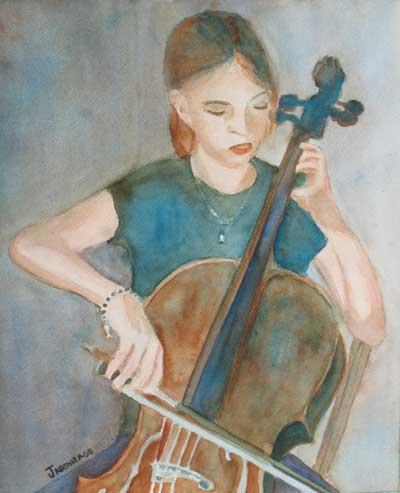 Cello Practice III (11 x 13) $100