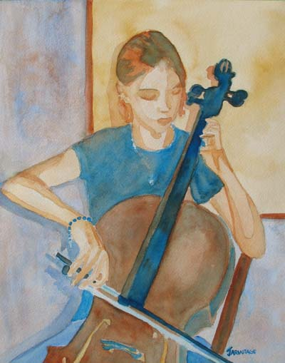 Cello Practice IV (11 x 14) $160