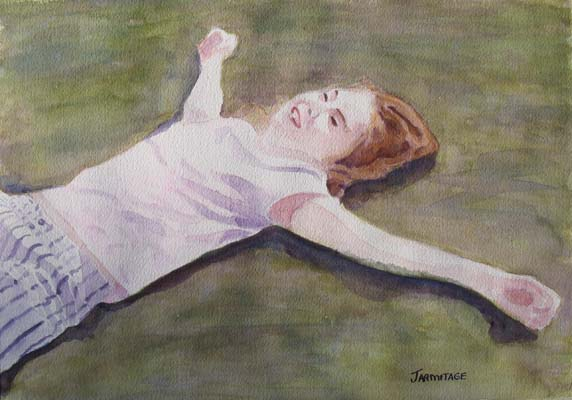 Floating on the Lawn (11 x 15) $125