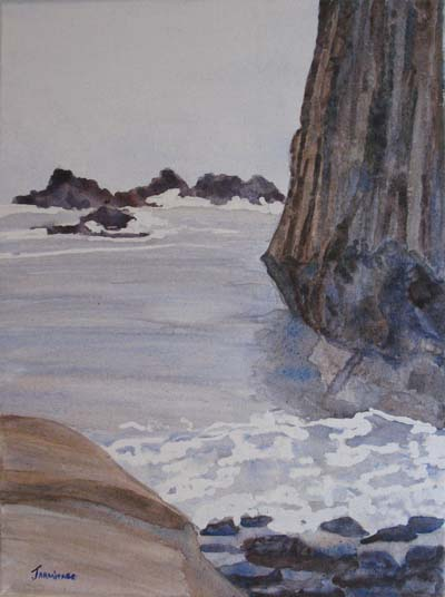High Tide and Seal Rock (12 x 16) $200