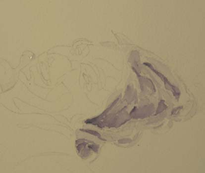 purple underpainting