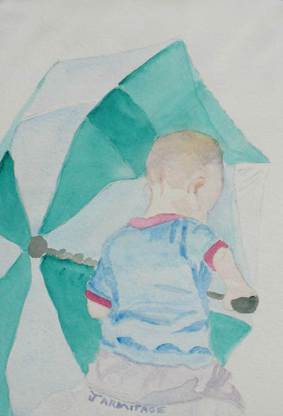 Boy with Umbrella II (5 x 7) $20.00