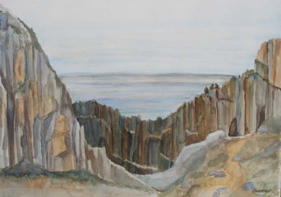 The Whale Watchers at Elephant Rock (14 x 20) $125