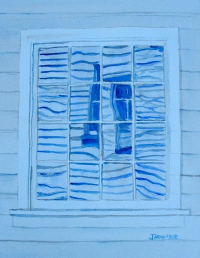 Missionary's Window in Reflection (9 x 12) $75.00