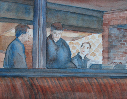 Three Waiters (9 x 7) $125