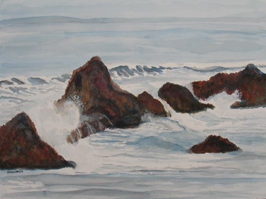 The Breakers at Seal Rock II (12 x 16) $125