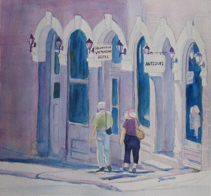 Central City Tourists (10.5 x 12) $100.00