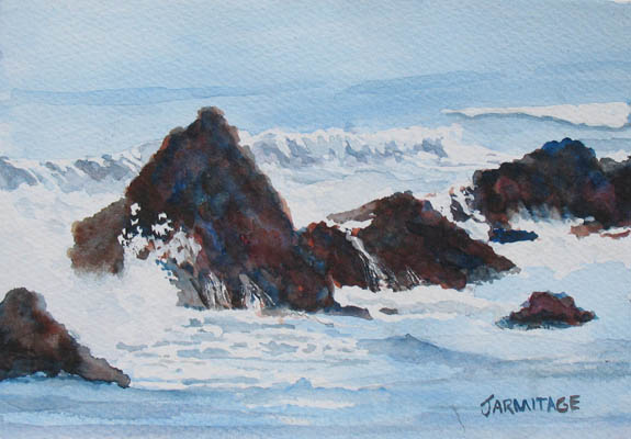 Seal Rock Breakers I (5 x 7--damaged) SOLD