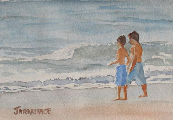 The Brothers and the Sea (5 x 7) SOLD