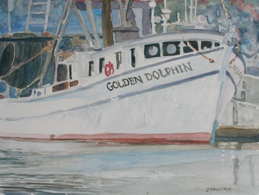 The Golden Dolphin (8 x 10) $100