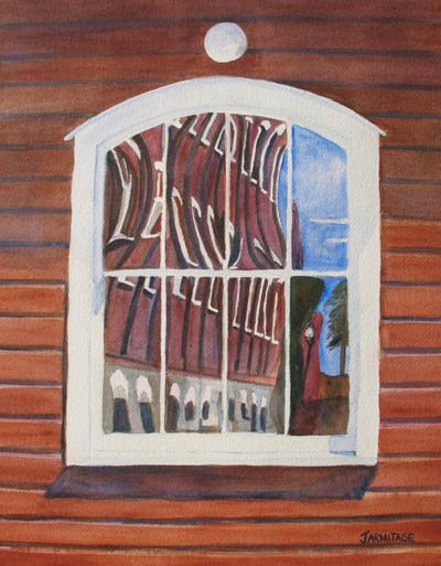 The Mill Reflects Upon Itself (13 x 16) $200