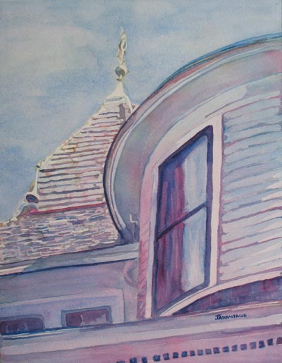 Turret and Copula (11 x 14) $150