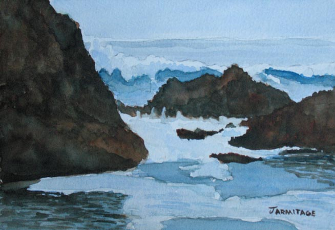 The Breakers at Seal Rock III (5 x 7) SOLD