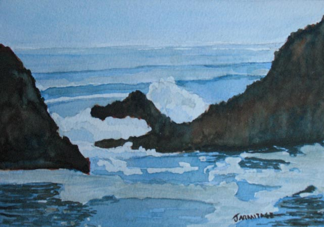 The Breakers at Seal Rock IV (5 x 7) SOLD