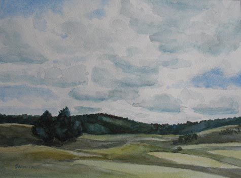 Clouds Over Boot Hill (9 x 12) $75.00
