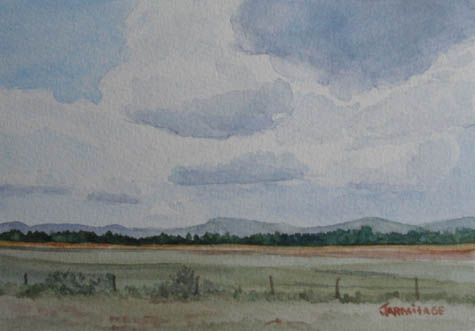 Clouds Over I5 (5 x 7) SOLD