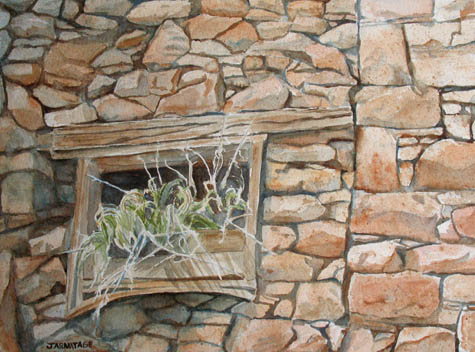 Grass in the Window (10 x 14) $225.00