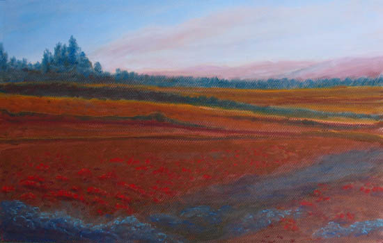 Dusk Falls on the Pumice Field (11 x 18)  $175