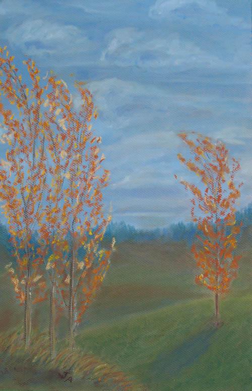 Fall Poplars (12 x 18)  $125.00