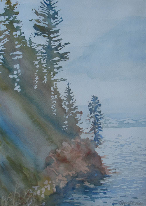 At The Water's Edge, painting by Jenny Armitage