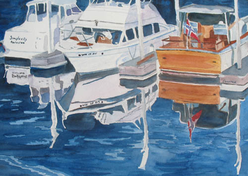 Gig Harbor in Watercolors by Jenny Armitage