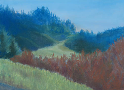 Pastel of Autumn Morning Landscape Near Grand Tetons National Park