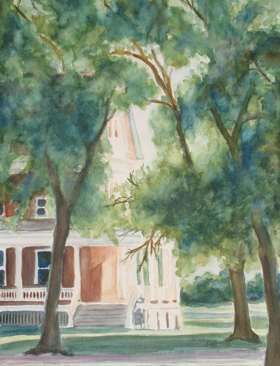 The Sunlit Porch, a Watercolor by Jenny Armitage