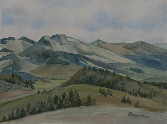 Montana Skyline, a watercolor by Jenny Armitage