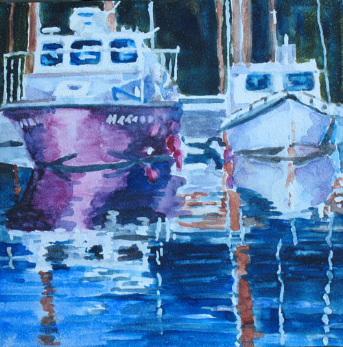 Two Times Two at Depot Bay a watercolor by Jenny Armitage