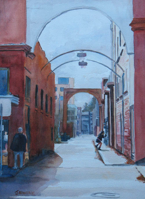 Archway to Nowhere a watercolor painting by Jenny Armitage