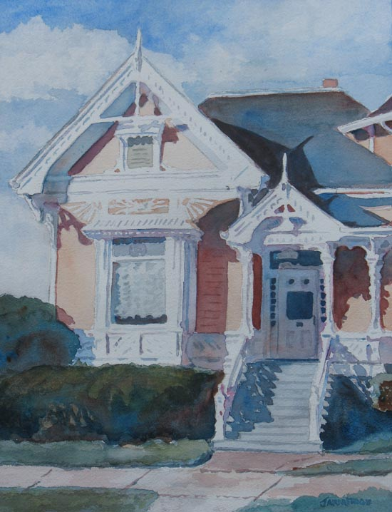 Victorian House, A Watercolor by Jenny Armitage