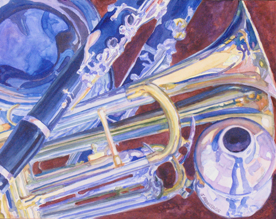 Musical Reflections, Instrumental Still Life, by Jenny Armtiage