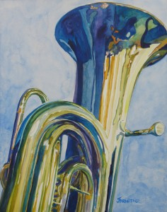 Big Boy, Painting of a Tuba by Jenny Armitage