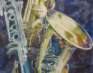 Bouquet of Reeds, Painting by Jenny Armitage