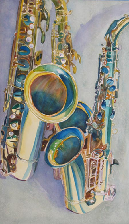 Saxy Trio and Musical Painting by Jenny Armitage