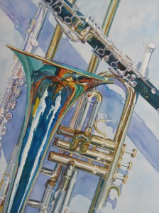 The Color of Music, Painting by Jenny Armitage
