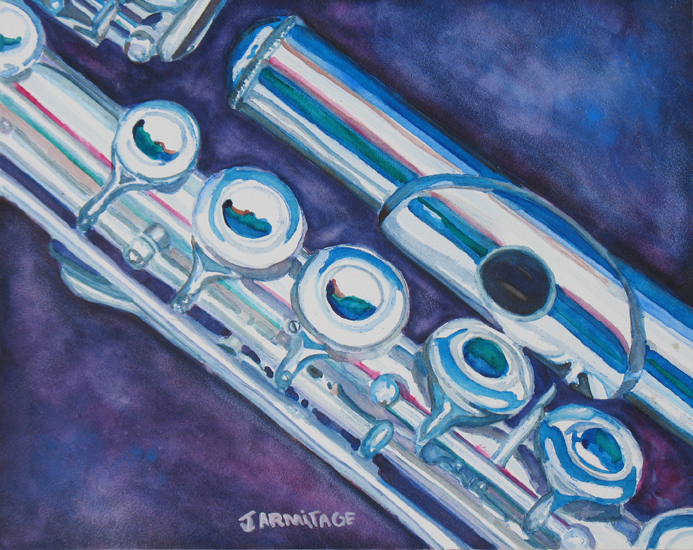 Flute Painting by Jenny Armitage