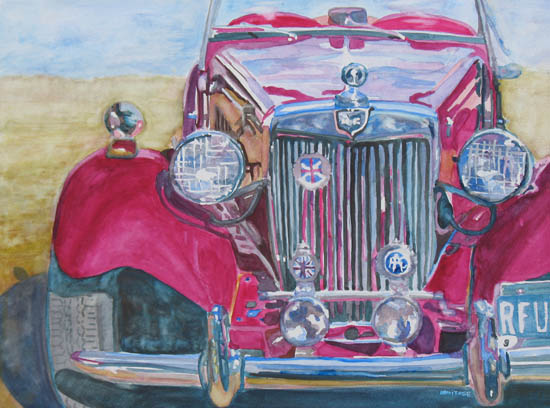 Grandpa's Toy Car, Painting by Jenny Armitge