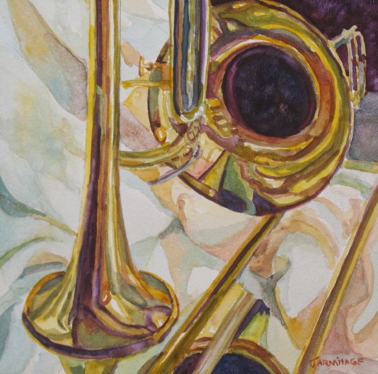 Brass at Rest, Painting of Brass by Jenny Armitage