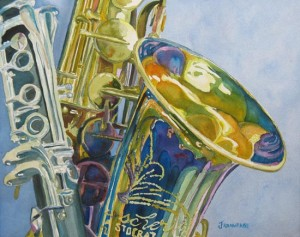 New Orleans Reeds, painting by Jenny Armitage