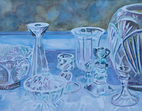 Painting of Cut Glass by Jenny Armitage