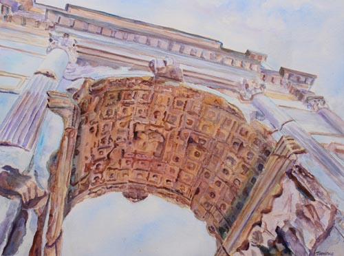 Arch of Titus, Painting by Jenny armitage
