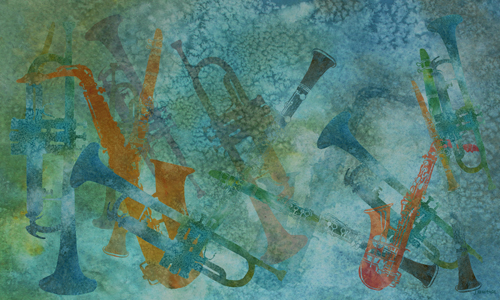 Jazz Improvisation One, digital painting by Jenny Armitage