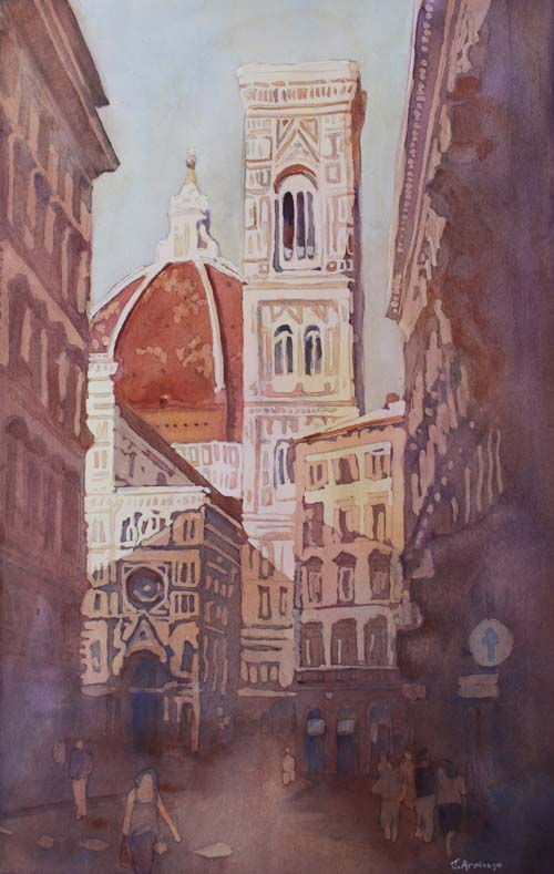 And Suddenly The Duomo, Painting By Jenny Armitage