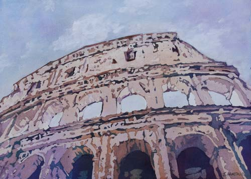 The Colossus, Painting of the Colosseum by Jenny Armitage