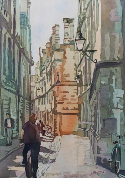 Oxford Lane, Original Painting by Jenny Armitage