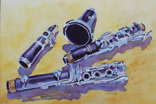 Clarinet Candy, An Instrument Painting by Jenny Armitage
