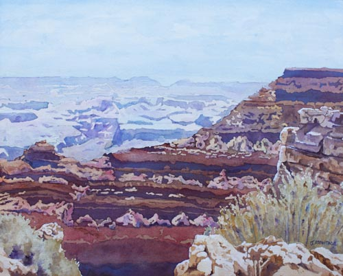 South Rim Color, Painting of the Grand Canyon, by Jenny Armitage
