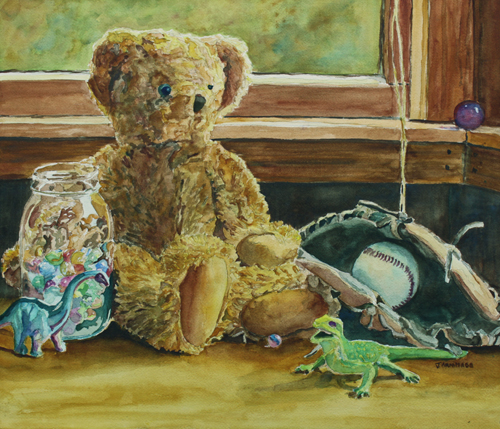 Teddy and Friends, painting by Jenny Armitage